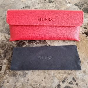 Guess Red Leather Glasses Case